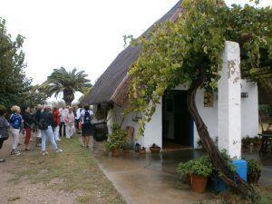 """Visita guiada a una """"barraca"""" casa tradicional donde vivían los agricultores y pescadores de esta zona de El Palmar situado a pocos kilómetros de Valencia y junto al lago de la Albufera"""