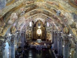 """Visita guiada cultural especializada a la Parroquia de San Nicolás de Valencia la conocida como """"Capilla Sixtina Valenciana"""" vista de los frescos restaurados"""